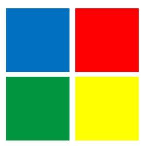 4 Farbben: Blau, Rot, Grün, Gelb